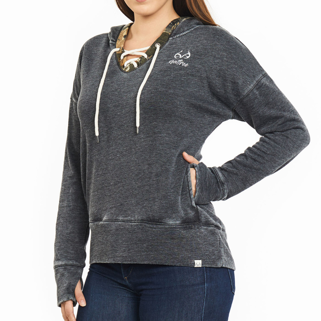 Realtree Women's Renue Lace-Up Sweatshirt