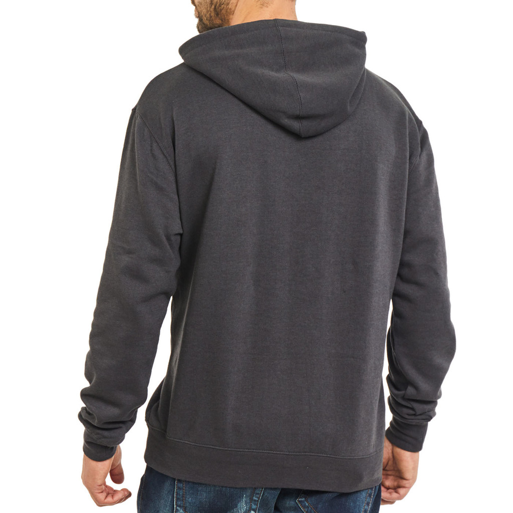 Realtree Men's Classic Hoodie Gray Back