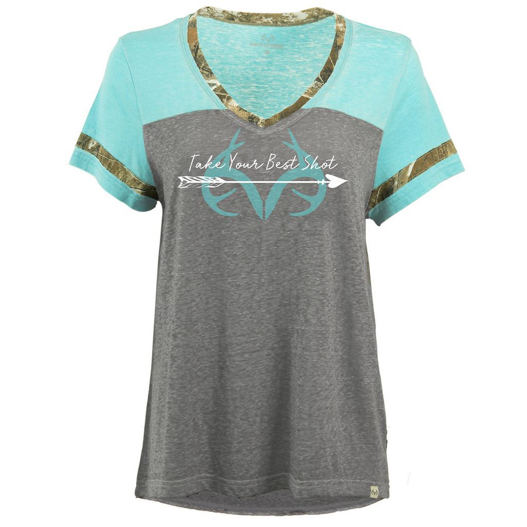 Women's Mint Short Sleeve Burnout Shirt Image