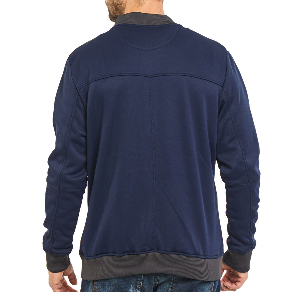 Men's Full Zip Bomber Jacket Back
