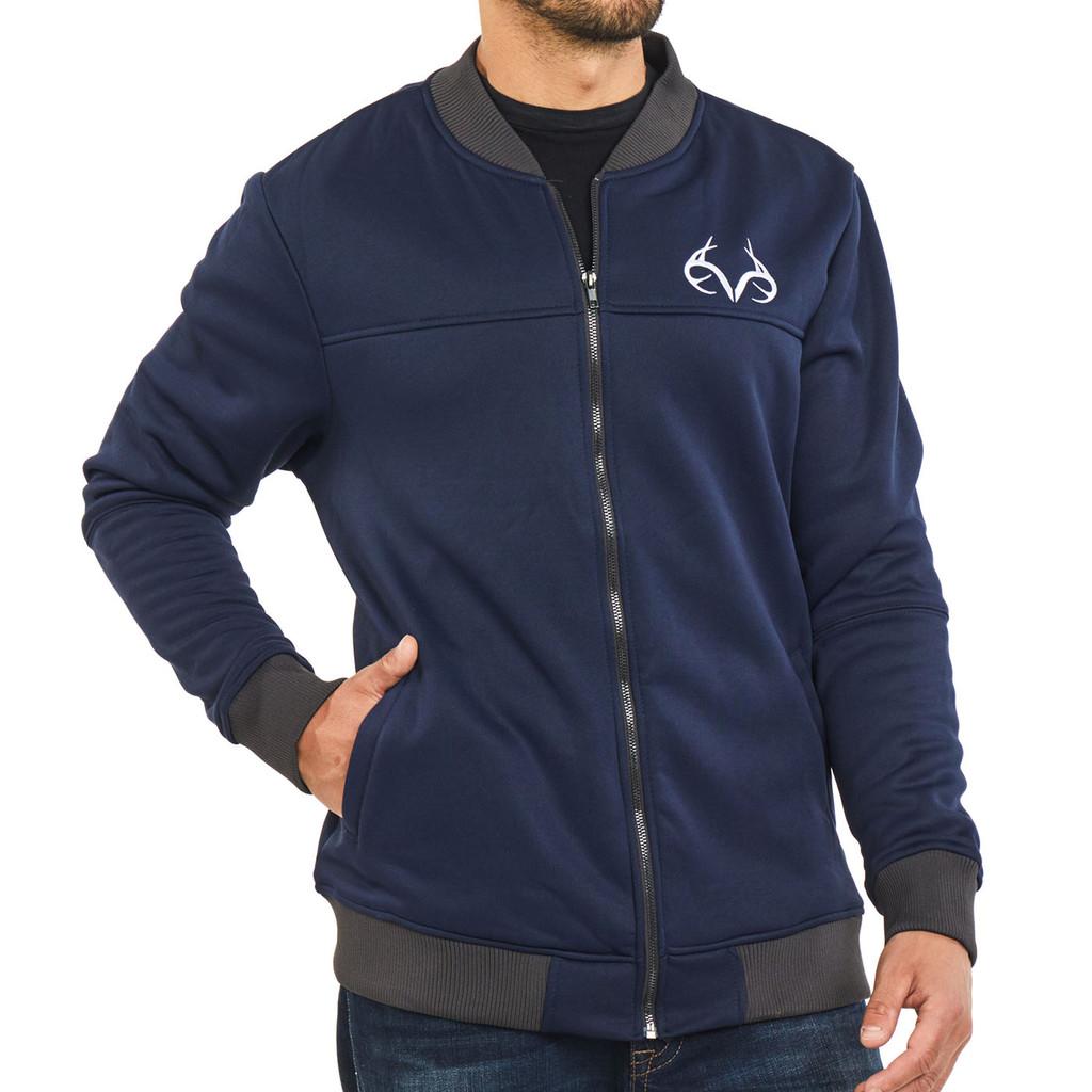 f6158a786788f Men's Full Zip Bomber Jacket | Realtree Camo Clothing - Men's
