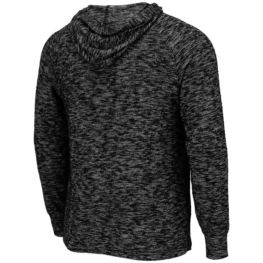 Men's Henley Long Sleeve Hooded Shirt Back