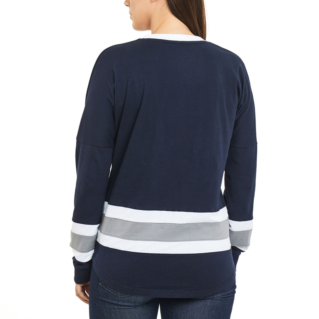 Women's Oversized Long Sleeve Shirt Back