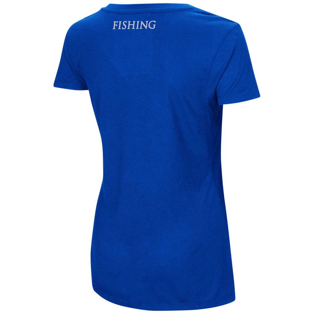 Women's Dual Blend V-neck Shirt Royal Back