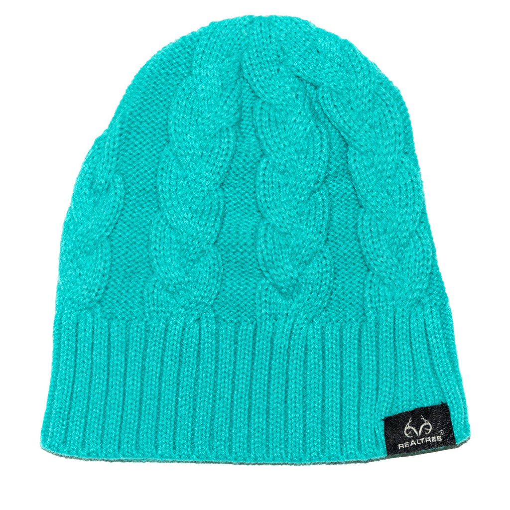 Soft Mint Cable Knit Beanie