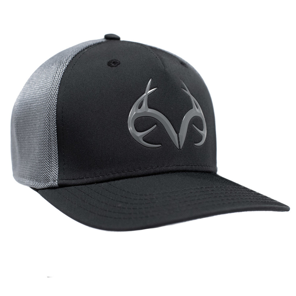 Realtree Blackout Performance Fitted Hat Side