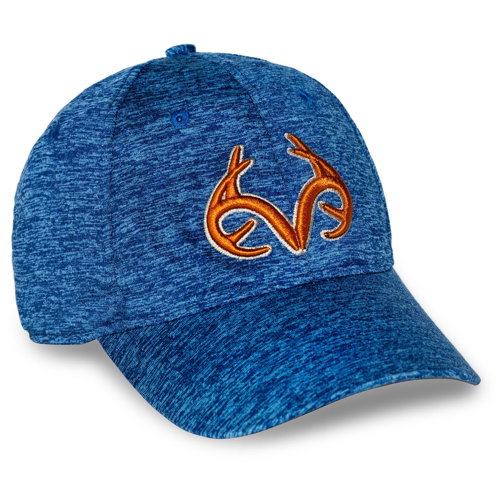 Realtree Classic Heathered Stretch Hat in Navy