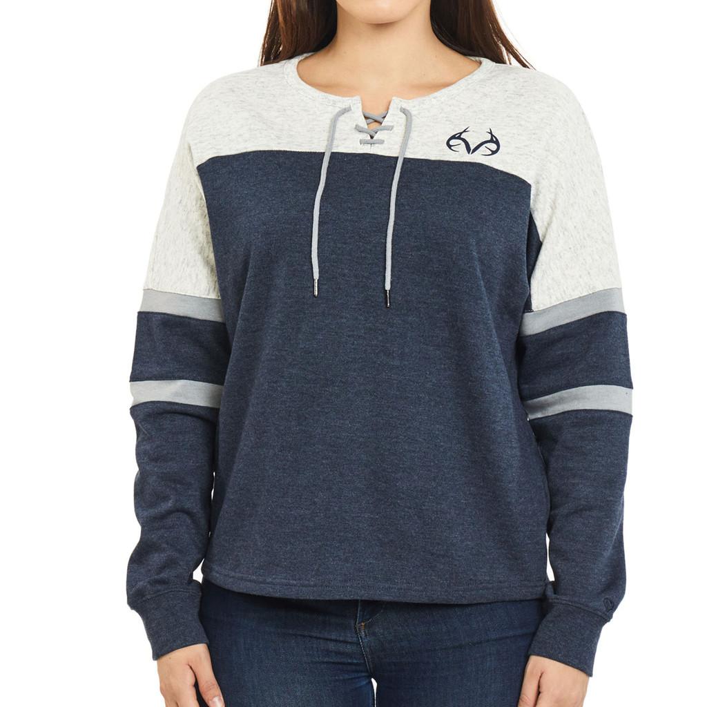 Women's Lace-Up Oversized Sweatshirt