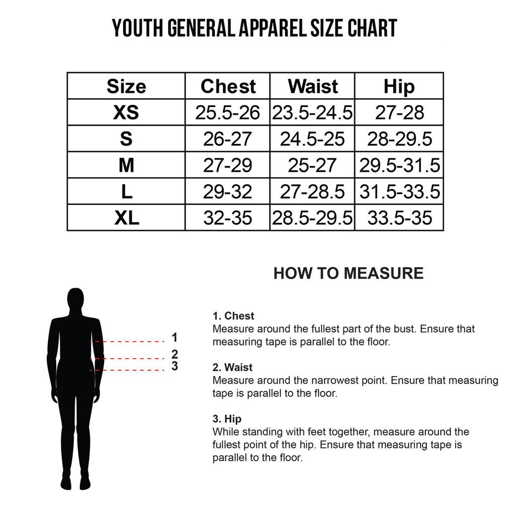 Youth Size Chart
