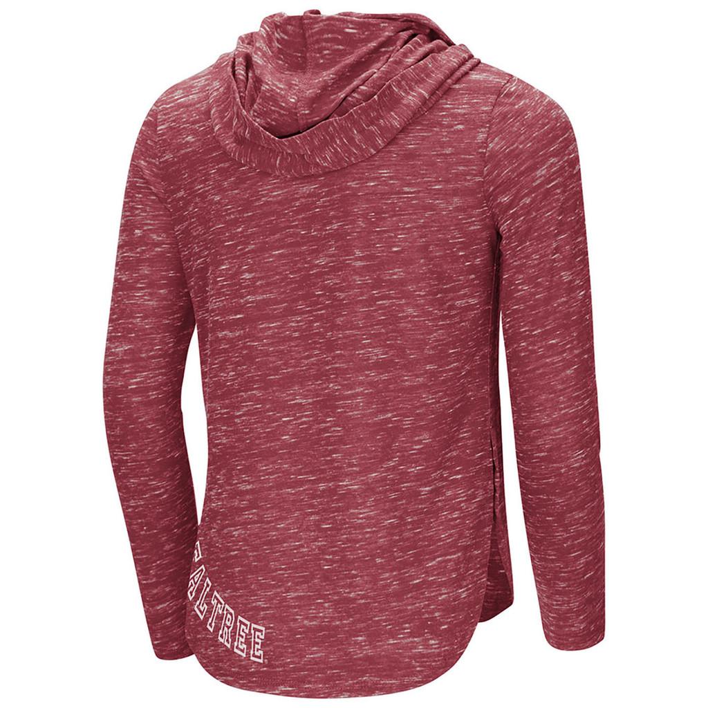 Realtree Girls Speckled Fleece Hooded Shirt Back