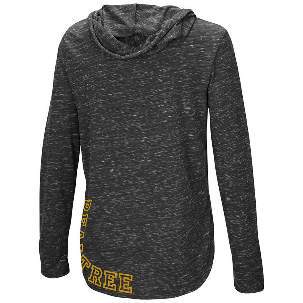Women's Side Slit Hooded Shirt Back Detail
