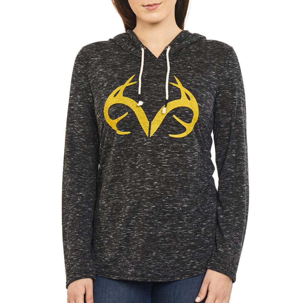 Women's Side Slit Hooded Shirt Front