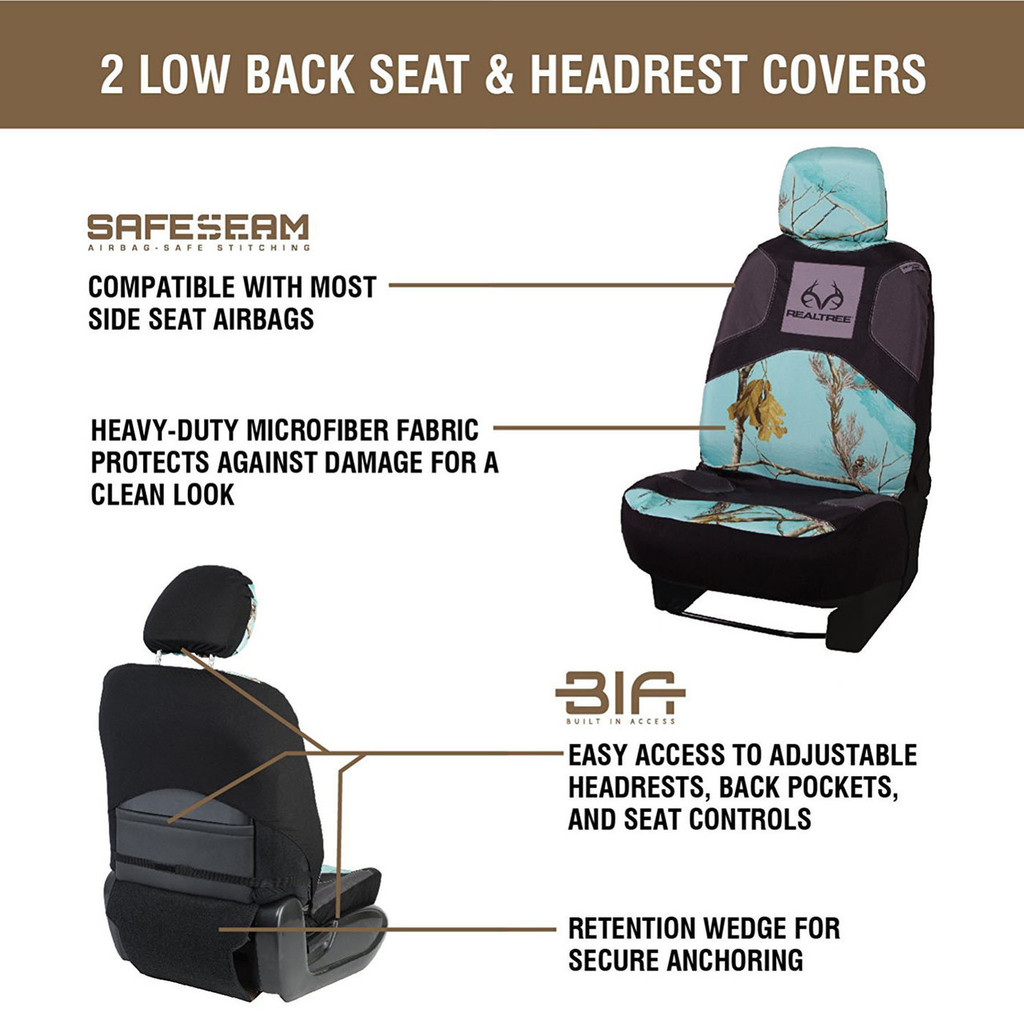 5 - Piece Realtree Mint Auto Kit Seat Covers
