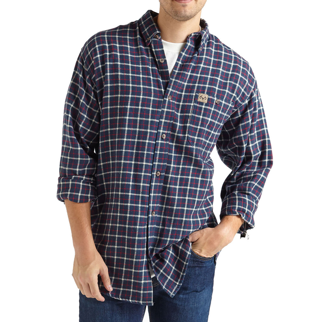 Men's Flannel Shirt Midnight