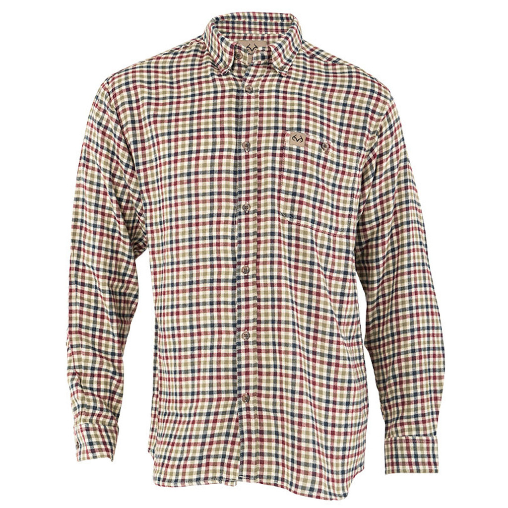 Mens Red Checkered Flannel Shirt Realtree Performance Shirts