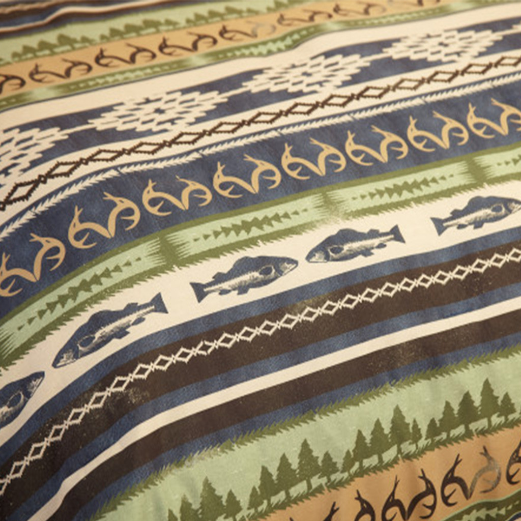 Realtree Lakeland Fishing Comforter Set Details