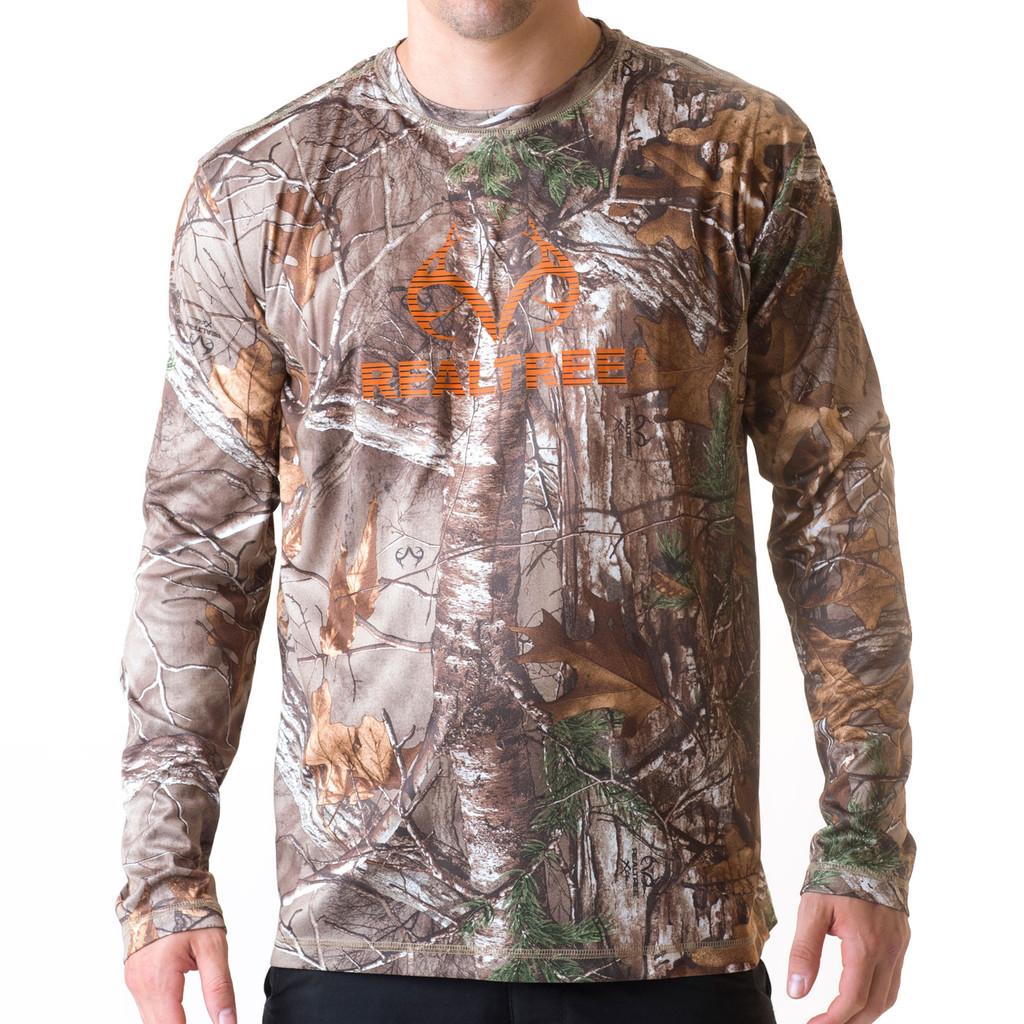 Men's Edge Camo Active Long sleeve Logo Shirt