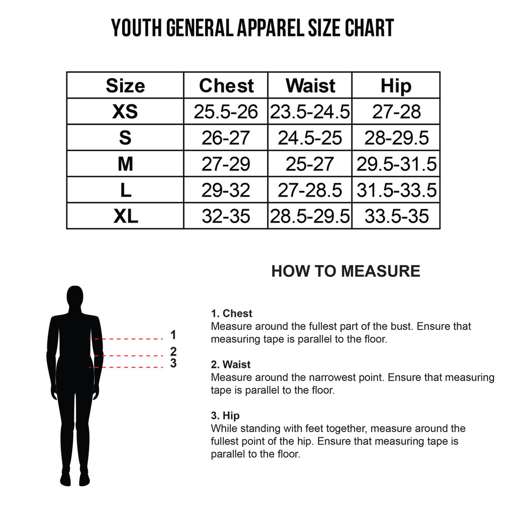Boys Youth Size Chart