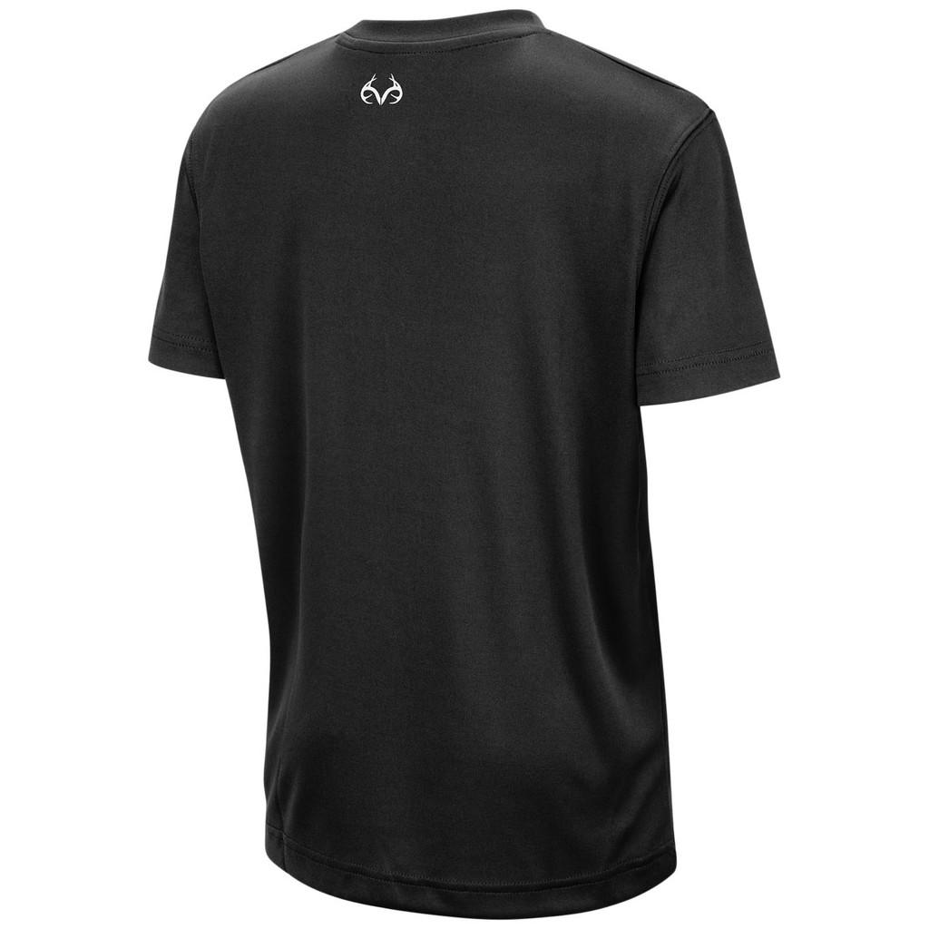 Boy's Black Performance Short Sleeve Shirt Back