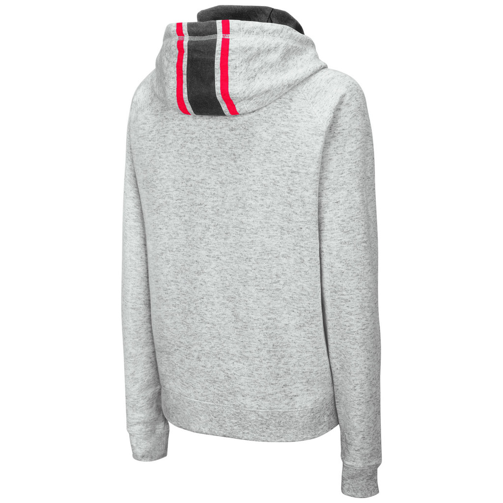 Women's Fleece Funnel Neck Hoodie Back