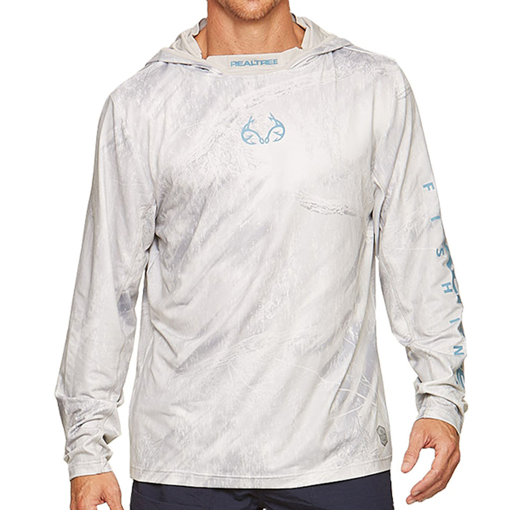 Cast Performance Long Sleeve Hooded Pullover in White