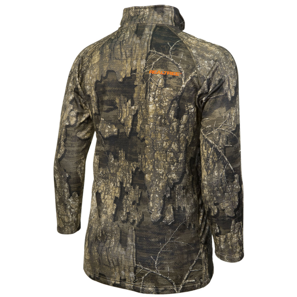 Timber Camo Pro Performance Element Osprey 1/4 Zip Back
