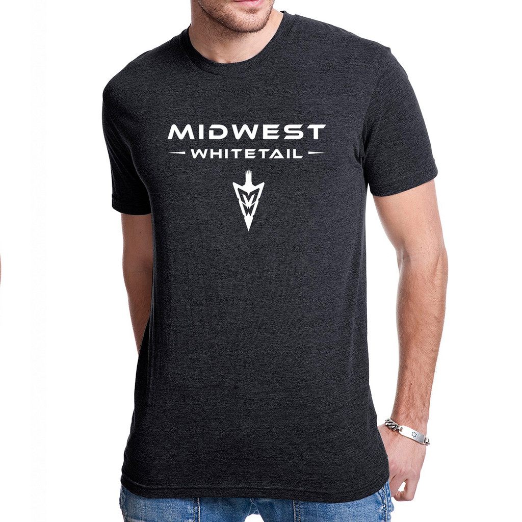 MidWest Whitetail Signature Series One Tee Black Front