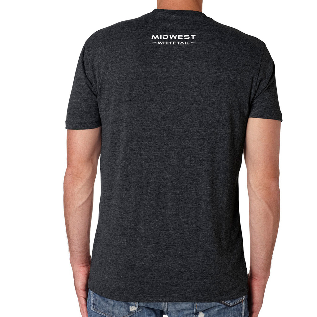MidWest Whitetail Signature Series Three Tee Black Back