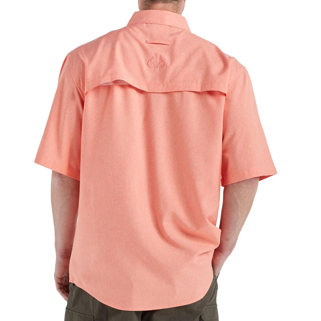 Men's Fishing Angler Fishing Shirt Orange Back
