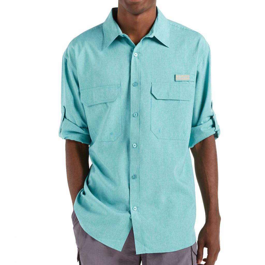 Men's Fishing Angler Fishing Shirt Teal