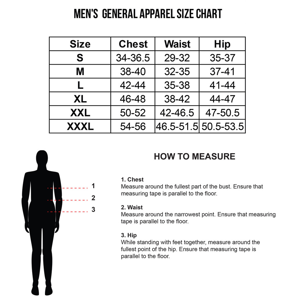 Men's Sizing