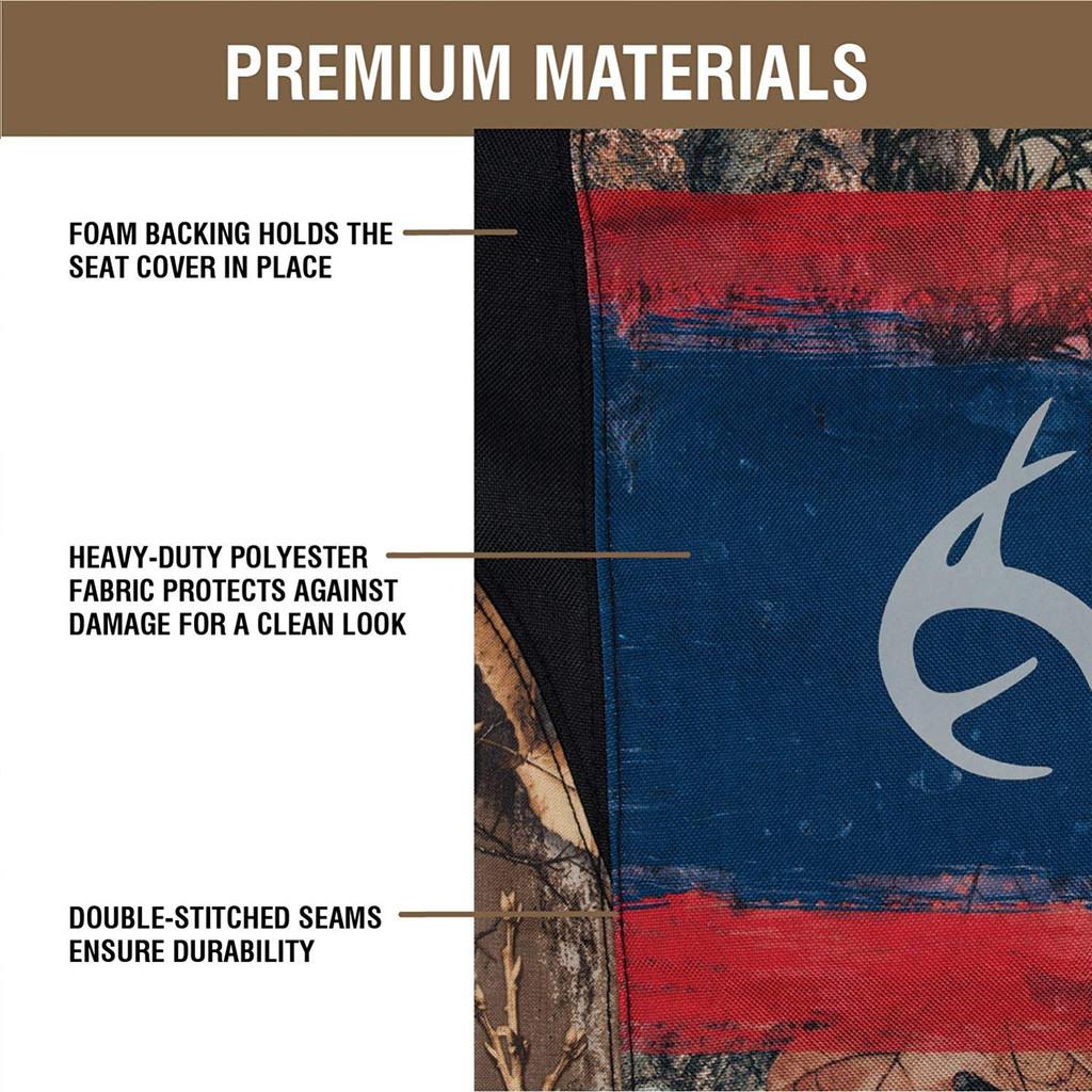 Realtree Edge/Americana Lowback Seat Cover Materials