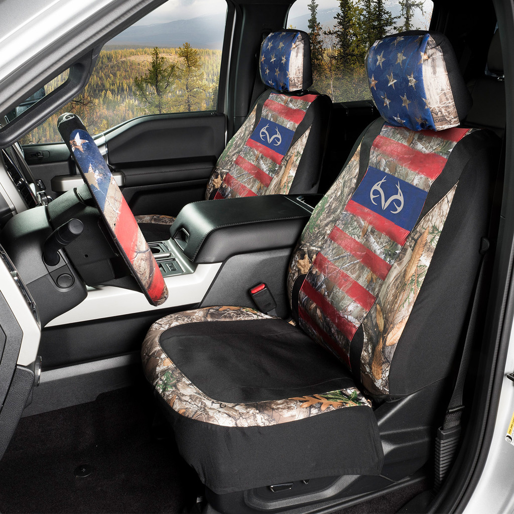 Realtree Edge/Americana Steering Wheel Cover  Picture