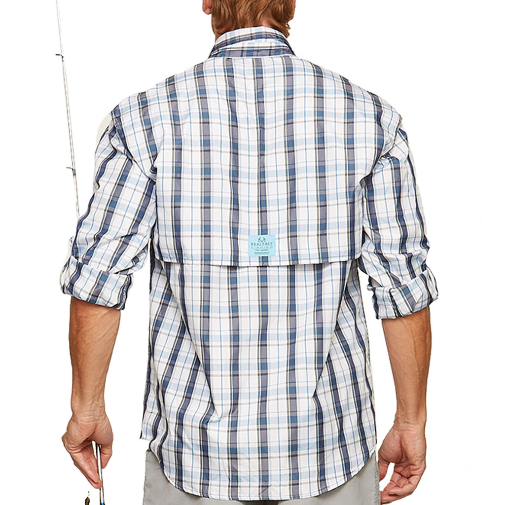 Upstream Longsleeve Fishing Shirt in blue - back