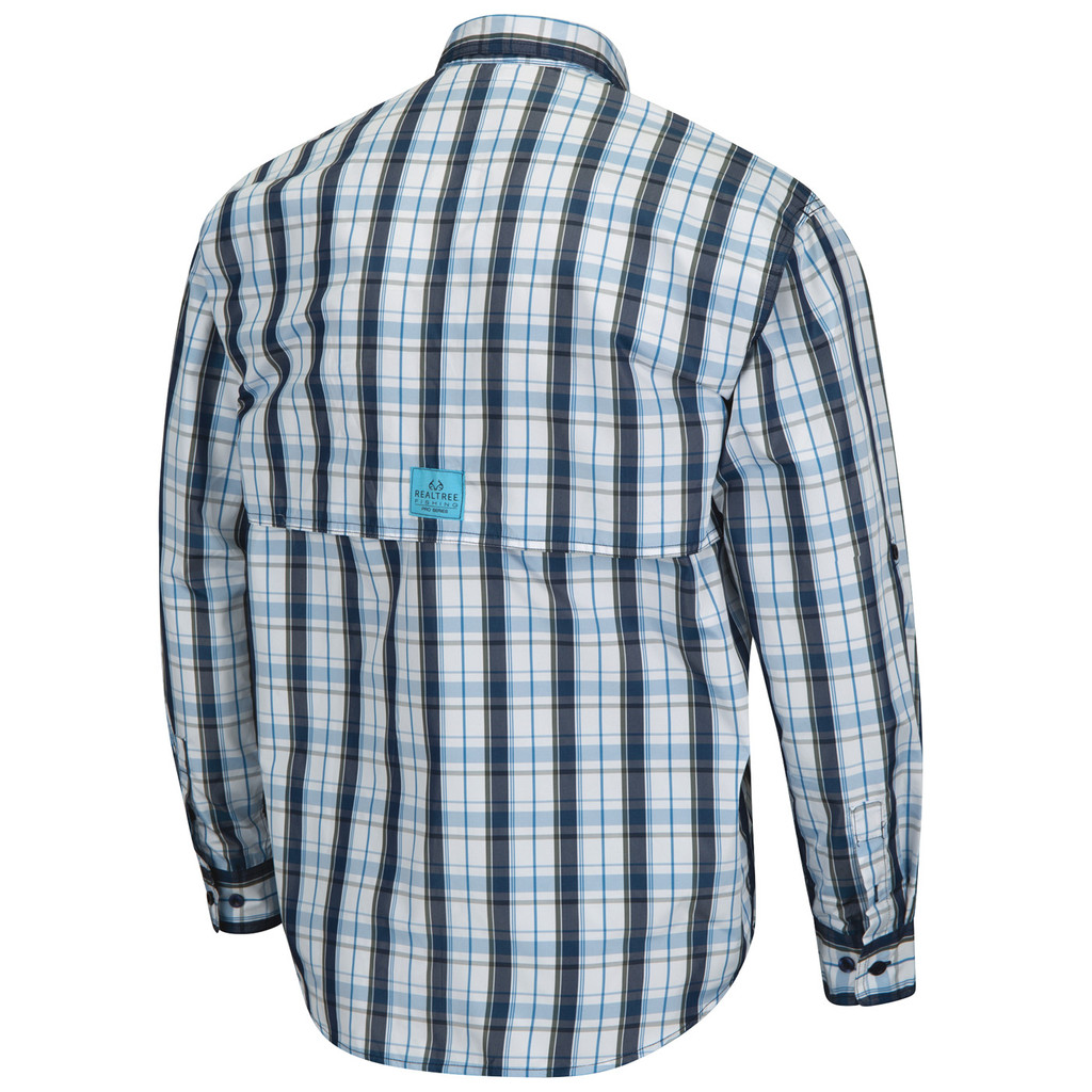 Upstream Longsleeve Fishing Shirt blue - back image