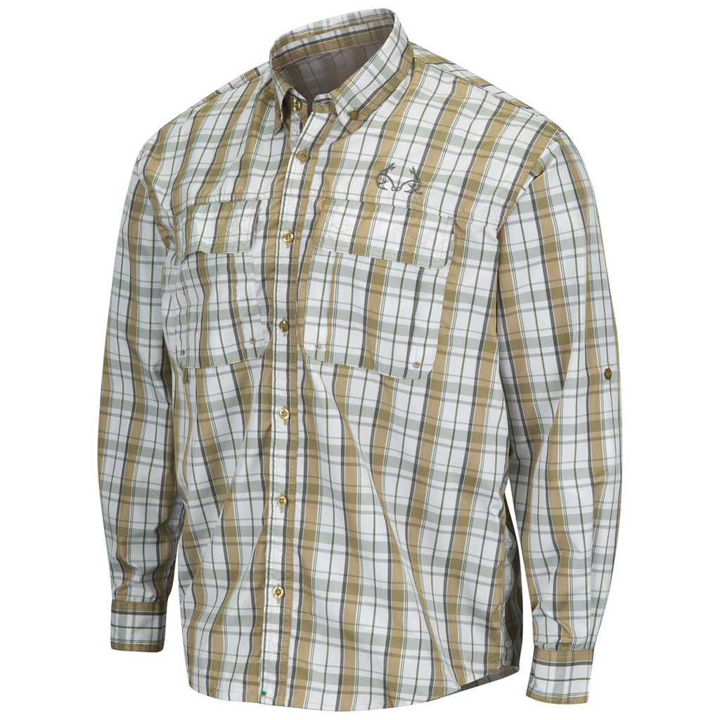 Upstream Longsleeve Fishing Shirt tan - front