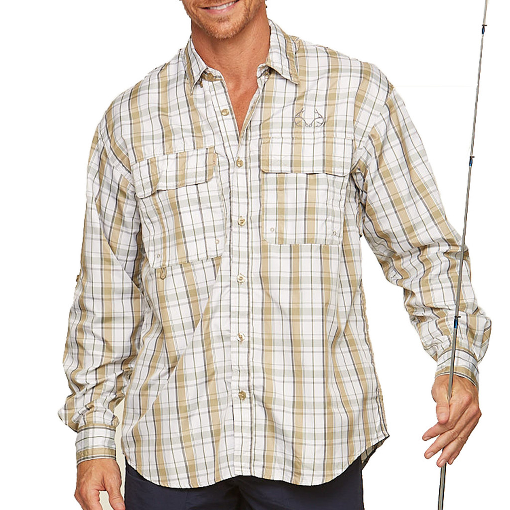 Upstream Longsleeve Fishing Shirt in tan