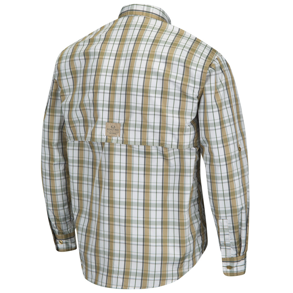 Upstream Longsleeve Fishing Shirt tan- back image