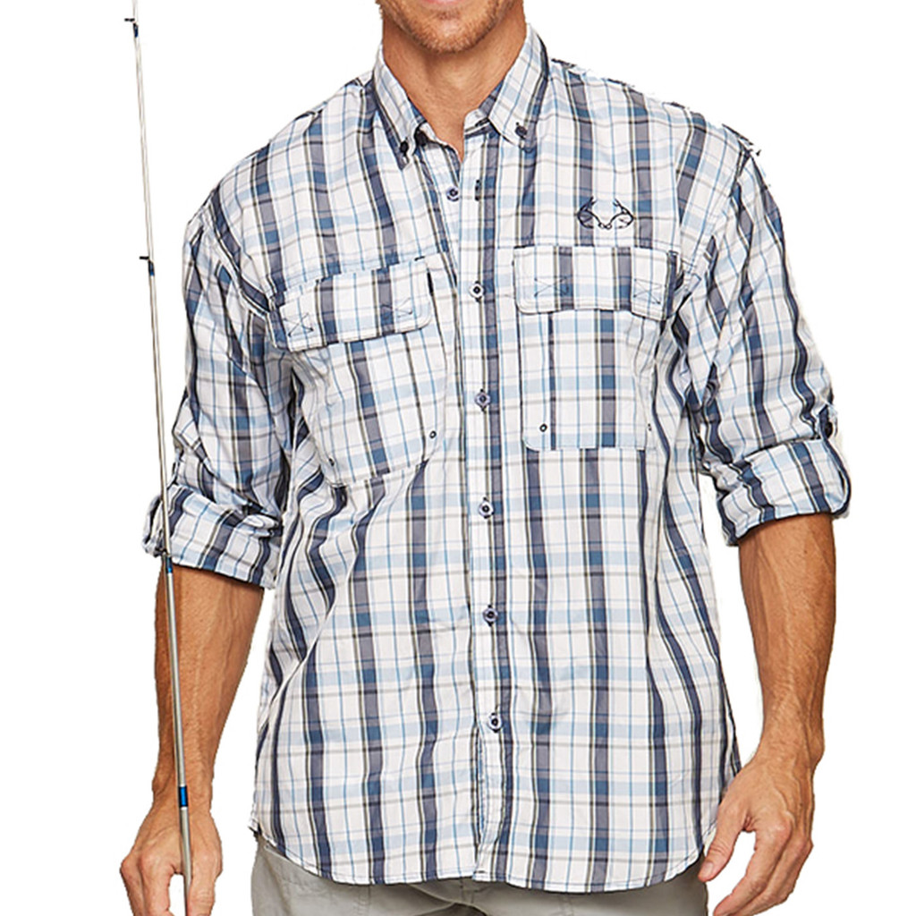 Upstream Longsleeve Fishing Shirt in blue