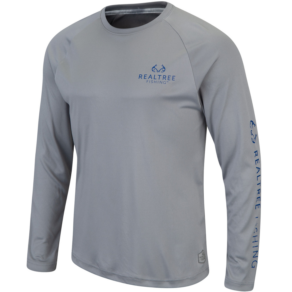 Pro Series Longsleeve Fishing Shirt Gray - Front