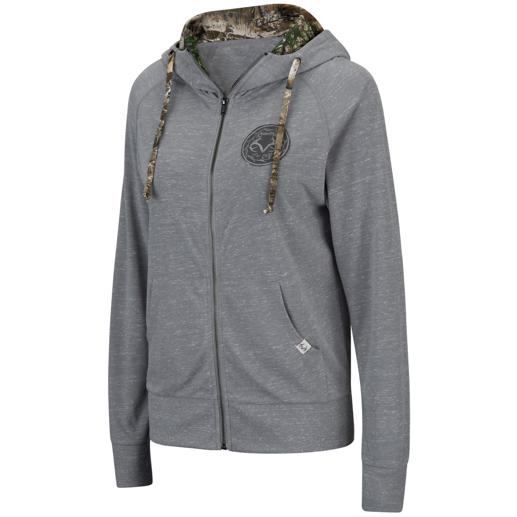 Farmhouse Full Zip Hoodie in Gray Front