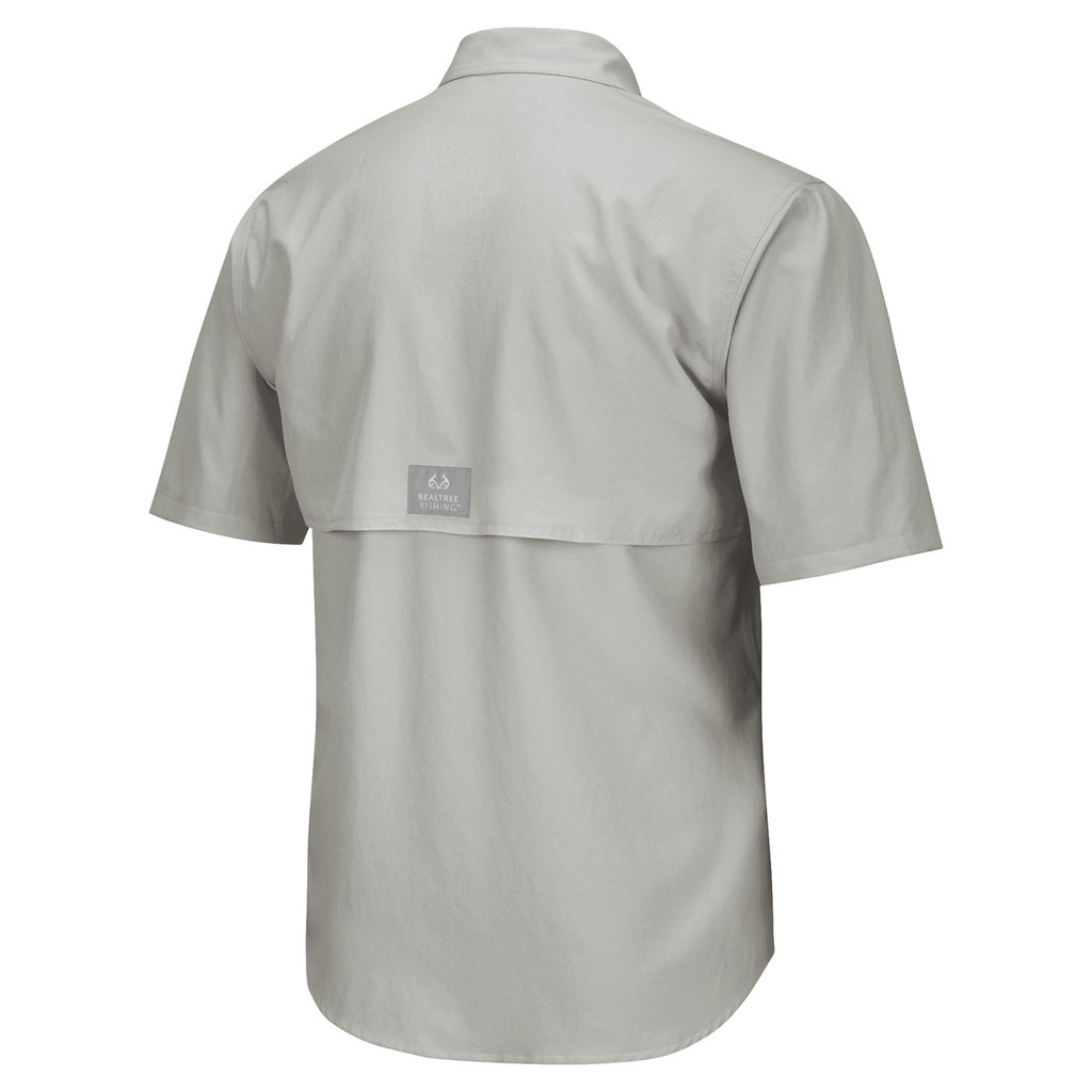 Men's Realtree Fishing Air Cast Fishing Shirt Sunset Gray Back