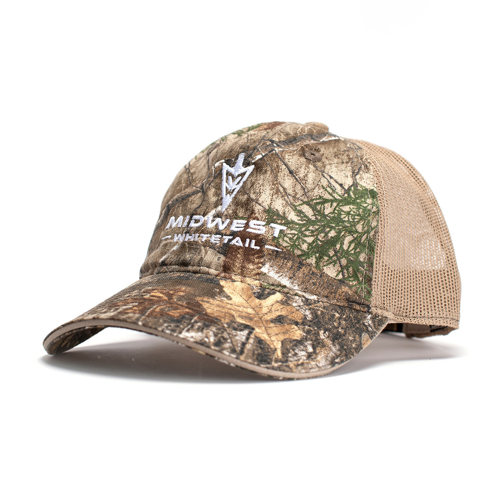 MidWest Whitetails Edge Camo Mesh Back Hat