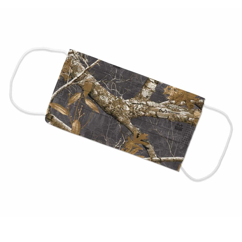 Realtree Edge Charcoal Face Mask - Flat
