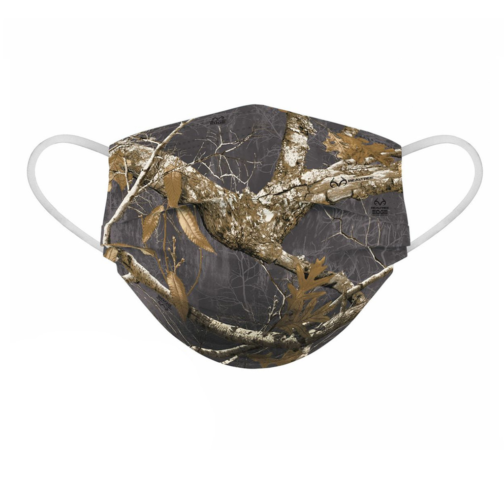 Realtree Edge Charcoal Face Mask - Front