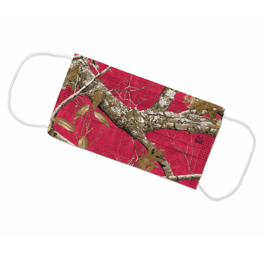 Realtree Edge Red Face Mask - Flat