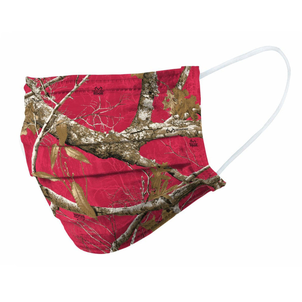 Realtree Edge Red Face Mask - Front