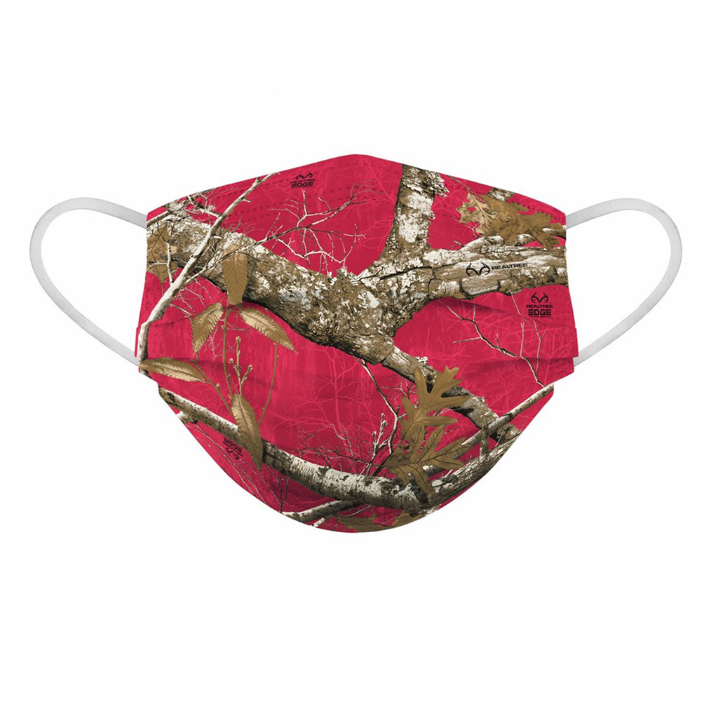 Realtree Edge Red Face Mask - Side