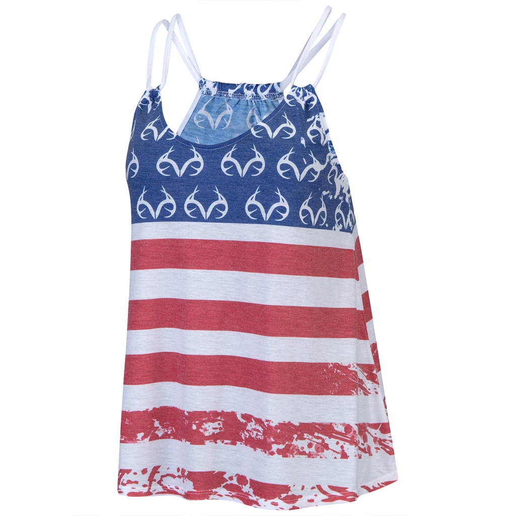Women's Stars and Bars Tank Front