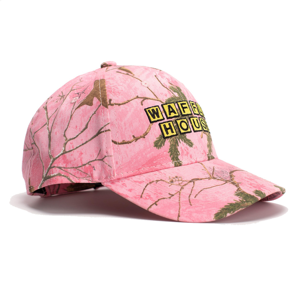 Realtree Xtra Pink Waffle House Hat Side